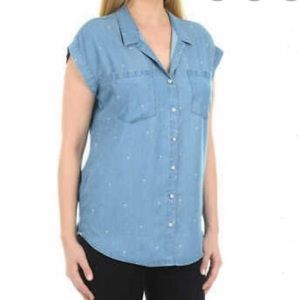 NWT Jachs Girlfriend Chambray Top Size XL